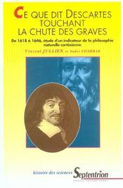Ce Que Dit Descartes Touchant La Chute Des Graves - Intérieur - Format classique
