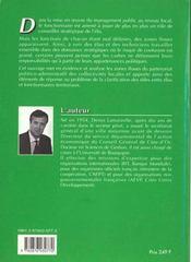 Le Management Territorial - 4ème de couverture - Format classique