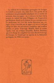 La Litterature Portugaise - 4ème de couverture - Format classique