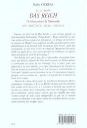 La Division Das Reich, De Montauban A La Normandie - 4ème de couverture - Format classique