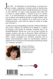 Si mahmoud ou la renaissance arabe d'isabelle eberhardt - 4ème de couverture - Format classique