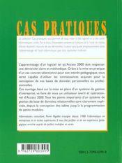 Initiation A Access 2000 De La Conception De Vos Tables A La Creation De Macros Et Procedures Visual - 4ème de couverture - Format classique