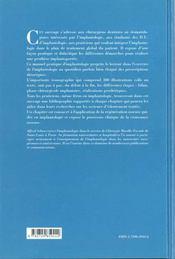 Manuel Pratique D'Implantologie Indications Et Principes Therapeutiques - 4ème de couverture - Format classique