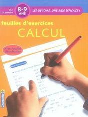 Les devoirs, une aide efficace ; feuilles d'exercices calcul ; CE2 - Intérieur - Format classique