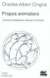 Propos Animaliers - Intérieur - Format classique