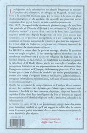 Cahiers Du Sielec T.3 ; Faits Religieux Et Résistances Culturelles Dans Les Littératures De L'Ere Coloniale - 4ème de couverture - Format classique