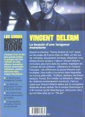 Vincent delerme de a a z - 4ème de couverture - Format classique