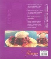 Crêpes, galettes, pancakes et blinis - 4ème de couverture - Format classique