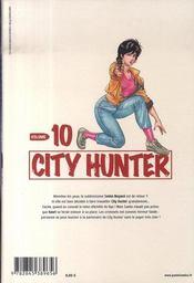 City hunter t.10 - 4ème de couverture - Format classique