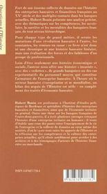 Le monde des banquiers francais au xxe siecle - 4ème de couverture - Format classique