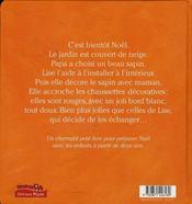 Lise et Doudoulapin ; Lise fête Noël - 4ème de couverture - Format classique