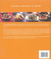 Cuisine d'afrique du nord - 4ème de couverture - Format classique