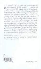 La campagne du mexique, 1862-1867 ; récits de soldats - 4ème de couverture - Format classique