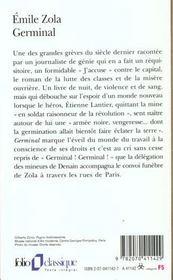 Germinal - 4ème de couverture - Format classique