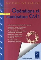 Opérations et numération ; CM1 - Intérieur - Format classique