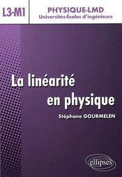 Linéarité en physique ; niveau l3-m1 - Intérieur - Format classique