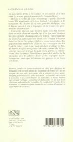La Journee De Louis Xiv ; 16 Novembre 1700 - 4ème de couverture - Format classique