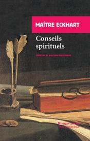 Conseils spirituels - Couverture - Format classique