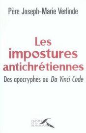 Les Impostures Antichretiennes - Intérieur - Format classique