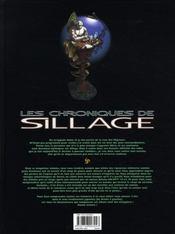 Les chroniques de sillage t.5 - 4ème de couverture - Format classique
