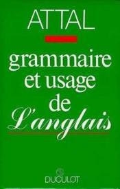 Grammaire Et Usage De L'Anglais - Couverture - Format classique