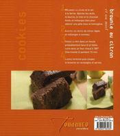 Muffins, cookies et brownies - 4ème de couverture - Format classique