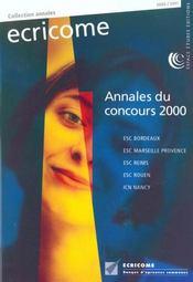 Ecricome Annales Du Concours 2000 - Intérieur - Format classique