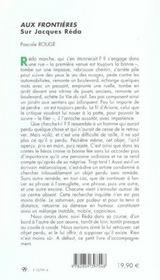Aux frontieres. sur jacques reda - 4ème de couverture - Format classique