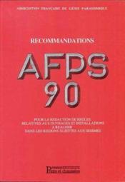 Recommandations Afps 90 Vol2 - Couverture - Format classique