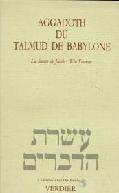 Aggadoth du talmud de Babylone - Couverture - Format classique