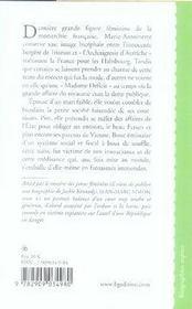 Marie Antoinette - 4ème de couverture - Format classique