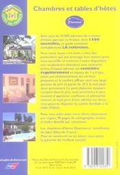 Chambres Et Tables D'Hotes (edition 2006) - 4ème de couverture - Format classique