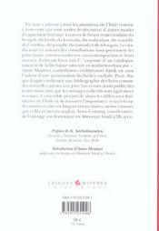 Ragmala ; Les Litteratures En Langues Indiennes Traduites En Francais ; Anthologie - 4ème de couverture - Format classique