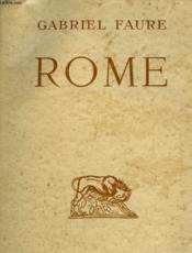 Rome. - Couverture - Format classique