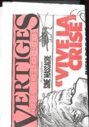 Vertiges Des Lettres N°1 - Vive La Crise - Couverture - Format classique