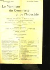 Le Moniteur Du Commerce Et De L'Industrie (Lot De 4 Revues) - Couverture - Format classique