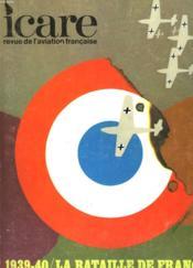 Icare N°54 - 1939-40 / La Bataille De France : Volume 1 : La Chasse - Couverture - Format classique