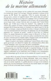 Histoire De La Marine Allemande 1939-1945 - 4ème de couverture - Format classique