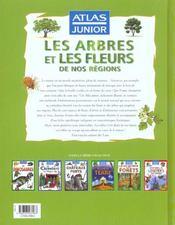 Atlas junior arbres et fleurs de nos régions - 4ème de couverture - Format classique