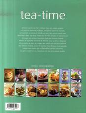 Tea-time - 4ème de couverture - Format classique