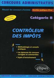 Controleur Des Impots Categorie B Concours Externe Fonction Publique D'Etat Concours Administratifs - Intérieur - Format classique