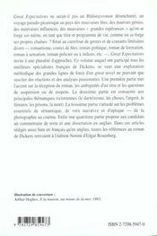 Great Expectations Charles Dickens Capes/Agregation Anglais - 4ème de couverture - Format classique