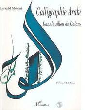 Calligraphie arabe ; dans le sillon du calame - Intérieur - Format classique