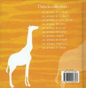 Les animaux de la savane - 4ème de couverture - Format classique