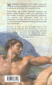 Michel-Ange Et La Chapelle Du Pape - 4ème de couverture - Format classique