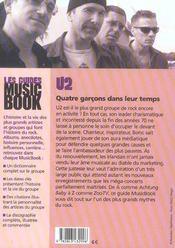 U2 de a a z - 4ème de couverture - Format classique