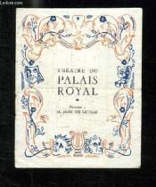 Programme. Theatre Du Palais Royal. - Couverture - Format classique