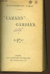 Camard Gardian - Couverture - Format classique