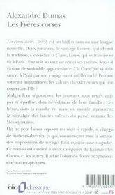 Les frères corses - 4ème de couverture - Format classique