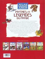 Atlas junior contes mythes et légendes - 4ème de couverture - Format classique